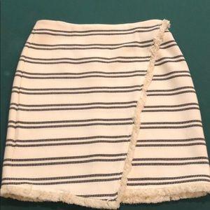 Black and white wrap skirt!